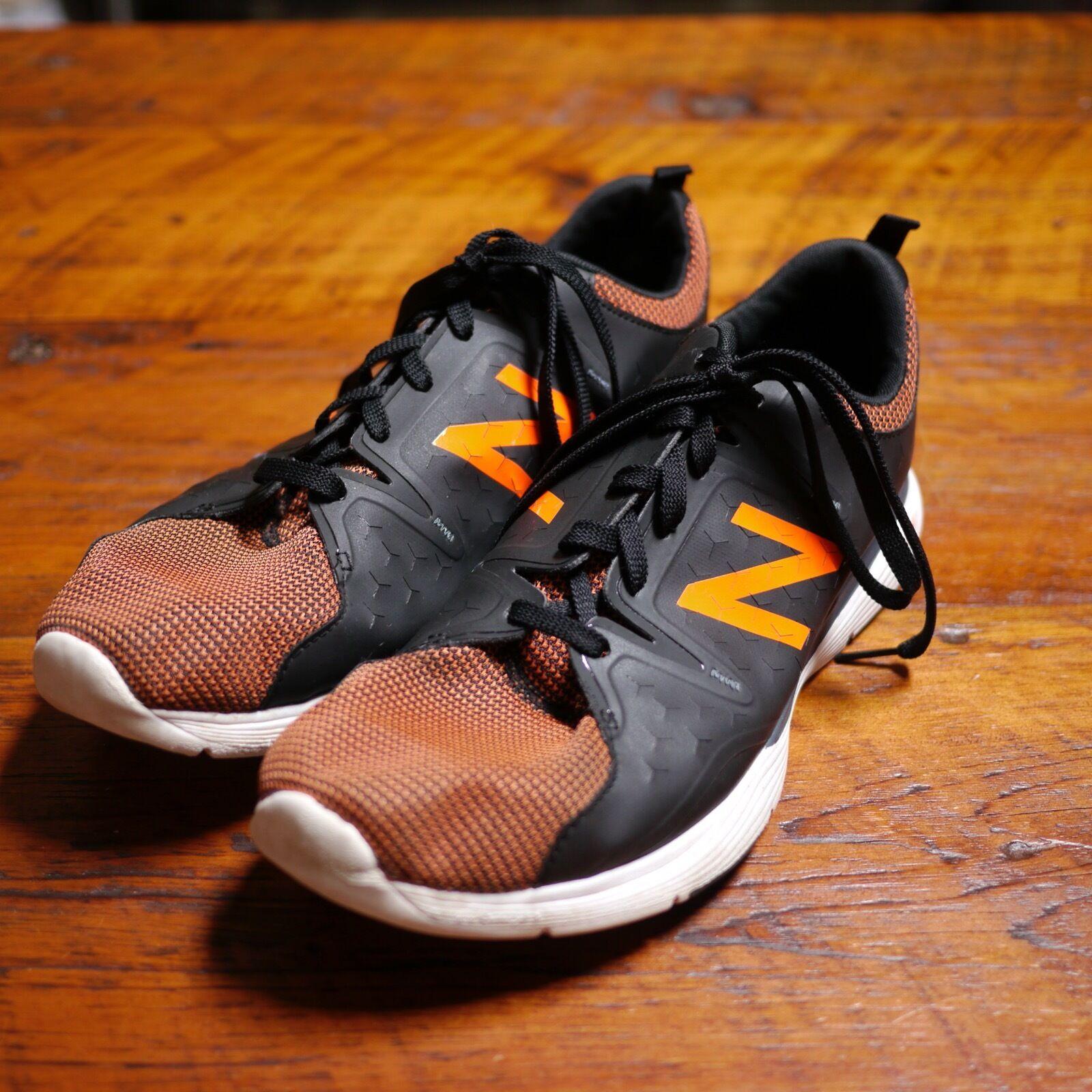 NEW BALANCE 818 Cush Black + orange Lightweight Cross-Training Sneakers 12 46.5