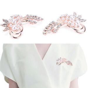 Mode-Vintage-Brosche-Strass-Nachahmung-Perle-Flower-Wedding-Zubehoer-Gut