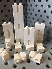Lego 1x2 White Bricks Modified With Groove Profile Wall Brick 25 Pcs