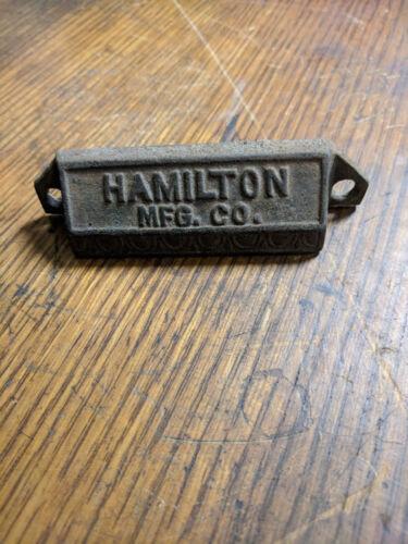 HAMILTON printer type case handle pull cast iron