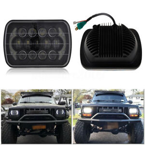 "85W 7x6 5X7"" LED Projector Headlight Hi Lo Beam Halo DRL"