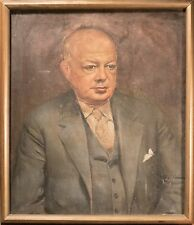 Excellent Antique Oil Painting Portrait of Gentleman Illegibly Signed, Quality!