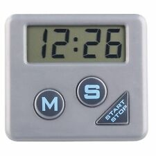Chef Aid Digital Kitchen Timer with Magnet and Stand - Silver - FREE P&P