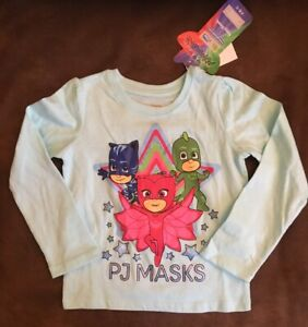 Brand-New-PJ-Masks-Long-sleeve-T-Shirt-4T-Get-it-FAST-Great-Christmas-Gift