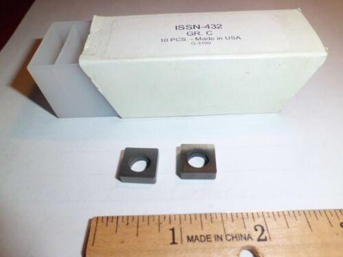 10 PCS ISSN-432 CARBIDE SEATS//SHIMS