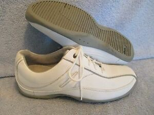 Womens Shoes CLARKS Size 7 1/2 WHITE LEATHER WALKING EXC