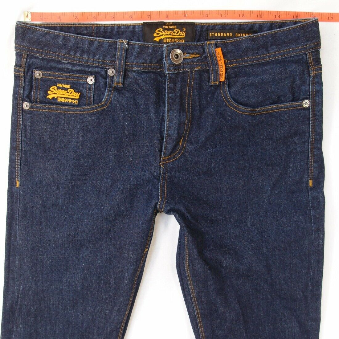 Mens SuperDry Standard Skinny Stretch bluee Jeans W31 L34