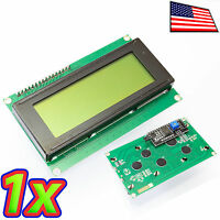 Yellow On Green 2004 20x4 Lcd Module Display With Serial I2c Module For Arduino