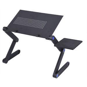 Ergonomic Laptop Desk Portable Adjustable Stand Up Aluminum Vented Bed Lapy Desk