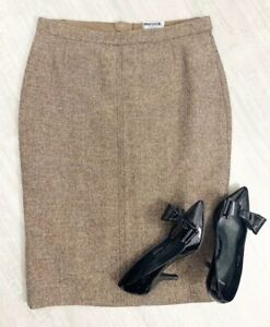 Joules-Tweed-Skirt-Pencil-ladies-Size-12-Brown-Mix-Lined-Occasion-Career-Wear