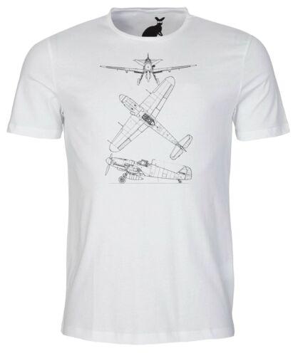 Messerschmitt me 109 bf tech dessin homme t shirt avion aircraft avion allemand