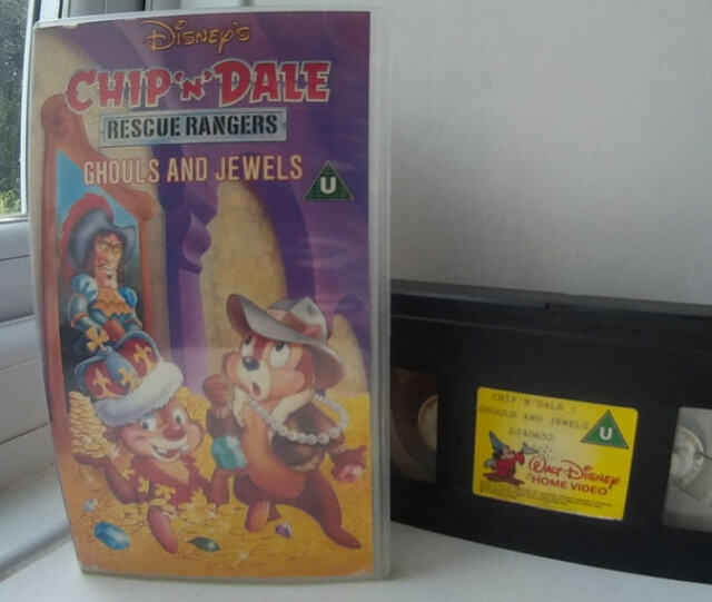 Chip 'N' Dale Rescue Rangers - Ghouls and Jewels - UK Disney Pal VHS Video