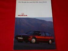 HONDA Accord 2.0 EX + 2.0 EXi Aero Deck Prospekt von 1986