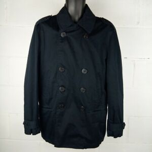 GAP-Trench-Jacket-Men-M-Nautical-Sailor-Buttons