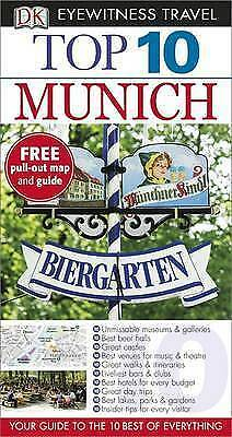 1 of 1 - MUNICH TOP 10 DK EYEWITNESS TRAVEL GUIDE BOOK GERMANY WITH PULLOUT MAP & GUIDE!!