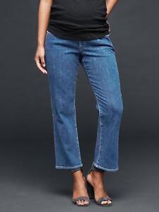 NWT-Womens-Gap-1969-Maternity-Demi-Med-Wash-Crop-Kick-Denim-Jeans-213807-26-R