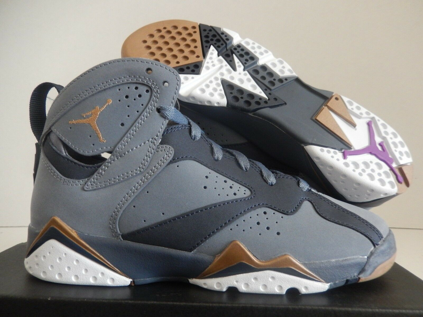 NIKE AIR JORDAN 7 RETRO (GG) BLUE DUSK-GOLD SZ 5.5Y -WOMENS SZ 7 [442960-407]