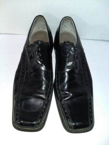 Stacy Adams Men/'s 12 M black Leather Lace Up Formal Dress Shoes