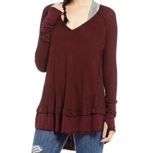 Free PeOple We The Free People Waffle Knit Thermal