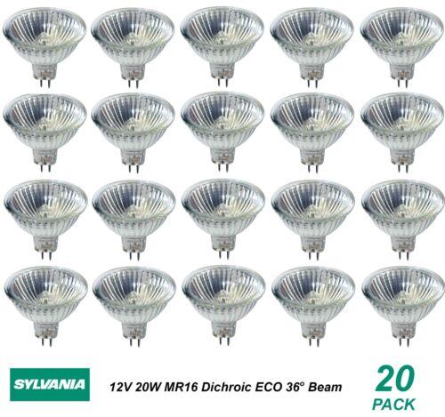 200 x 12V 20W MR16 Gu5.3 Halogen Light Lamp Globes Bulbs 36 Degree Beam Dimmable