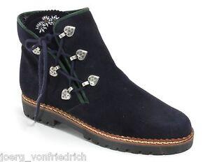 Bottines à Lacet Vintage Chaussures à de Costume Folklorique Walter Käfer 38