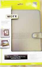 """Werx Universal Tablet eReader Case Stand Silver for Display up to 10.1"""" (GWA 10)"""