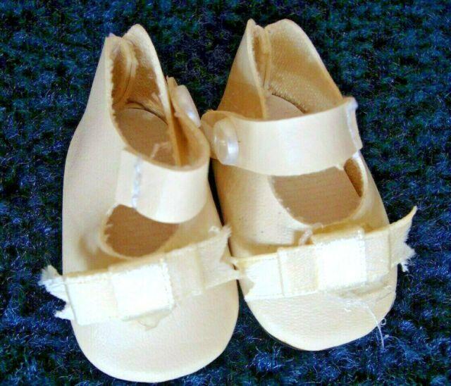 "German style shoes 4 antique bisque or vintage composition doll 2 3//8/"" long sz7"