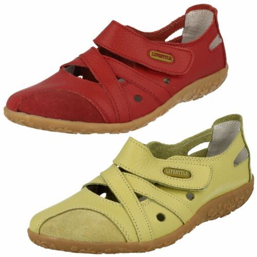 R7B Lifestyle Juliet Ladies Green Or Red Leather /& Suede Patch Shoes