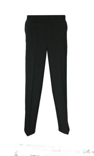 New Women/'s Ladies Back Elasticated Plain Trousers