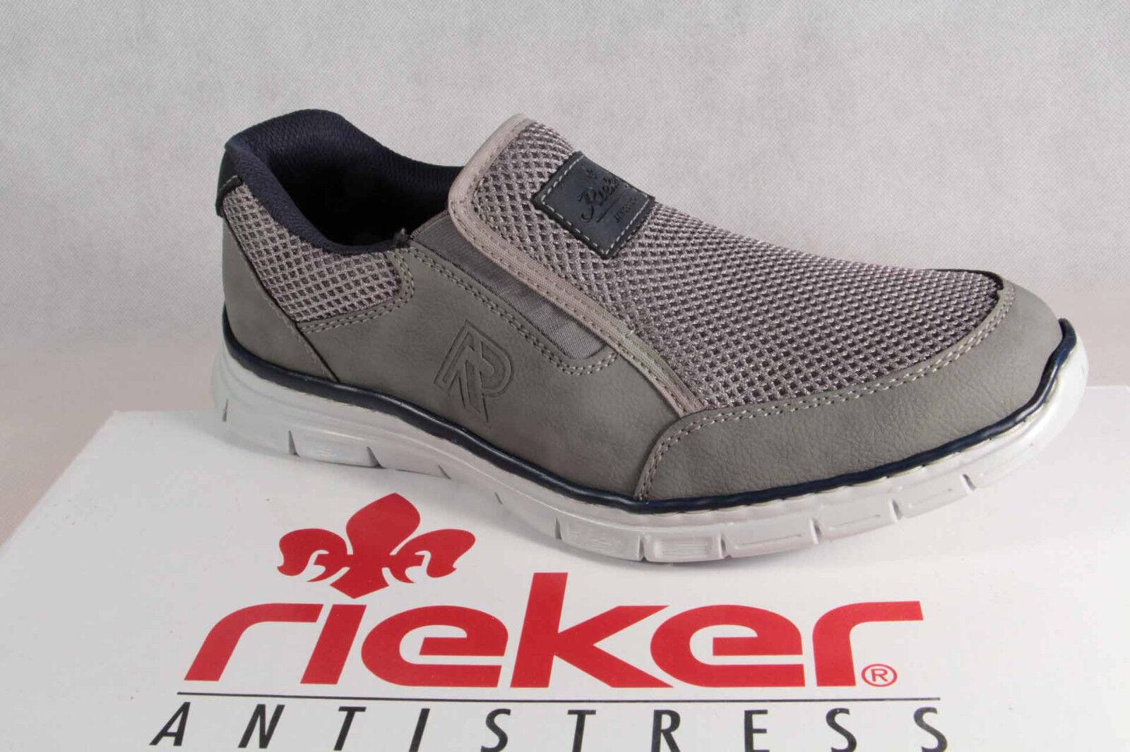 Scarpe casual da uomo  Rieker Scarpe Basse Scarpe da lacci ginnastica con lacci da grigio B4873 NUOVO 8495ca