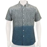 Fourstar Ishod Pictogram Mens Short Sleeve Button Up Shirt Large Navy