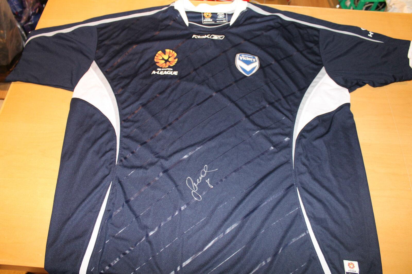 MELB victoria-Frojo mano firmado Jersey Sin Enmarcar + photo proof & C.o.a