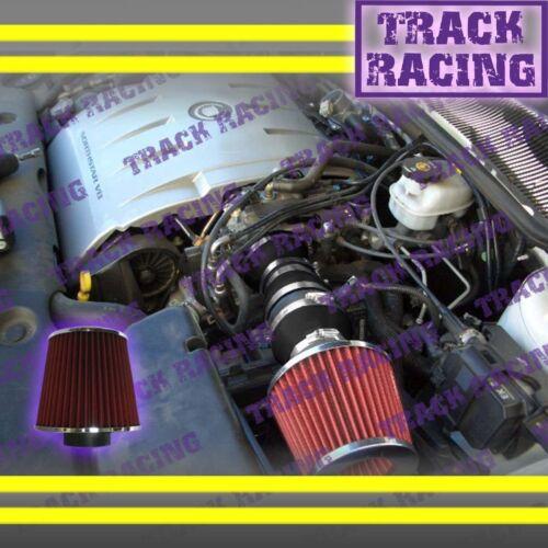 2000 2001 2002 2003//00-03 OLDSMOBILE AURORA 4.0 4.0L V8 AIR INTAKE KIT Black Red