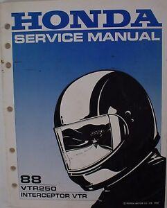 genuine honda vtr250 interceptor vtr 88 service manual ebay rh ebay com 2005 honda vtr 250 service manual pdf 1999 honda vtr 250 service manual
