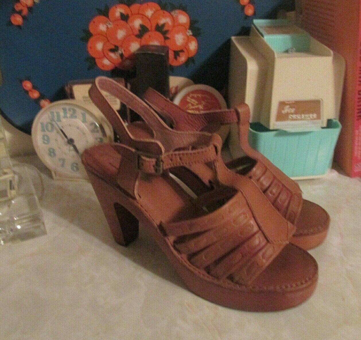 Jeffrey Campbell  Haven Tan leather clogs size 7.5 new