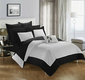Chic Home Design Llc Peninsula Comforter Set Black Twin 10 Piece