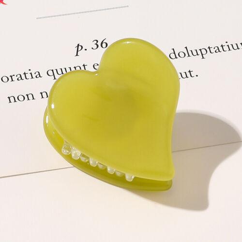 Candy Leopard Small Heart Acetate Hair Claws Hair Clips Crab Clamp Hairpins