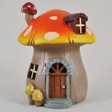 Garden Fairy House Mushroom With Lights Decorative Ornament Secret Garden