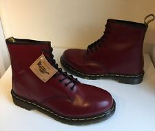 New! Sz12 England Dr. Martens 1460 Air Cushion Soles Oxblood Leather Boots Eu47
