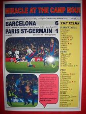 Barcelona 6 PSG 1 - 2017 Champions League - souvenir print