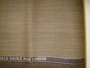 4-44-yd-LOWE-DONALD-WOOL-Super-130s-FABRIC-Luxury-8-oz-Suiting-Bistre-160-034-BTP