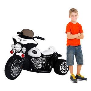 HOMCOM Moto Eléctrica Coche Triciclo Niños + 3 años 6V Metal + PP Negro Blanco