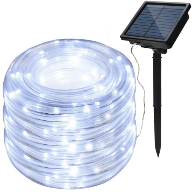 Agptek Solar String Lights 78 7ft 200led Waterproof Rope High Capacity Battery