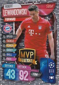 2019//2020 Topps Ligue des Champions Crystal 105-Robert Lewandowski-Master