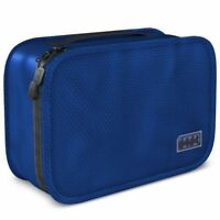 Dot&dot Dark Blue Hanging Toiletry Bag Case Organizer Travel 11x6.75x3 Cosmetic