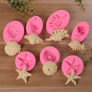 AU-Sea-Shells-Starfish-Silicone-Mould-Cake-Chocolate-Ice-Cake-Decorating-Mold