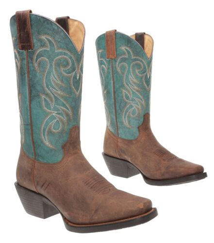 SHYANNE Cowboy Boots 8.5 B Womens WESTERN Turquois