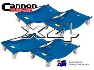 WHEEL-DOLLY-Set-OF-4-CAR-DOLLYS-450kg-Dollys-Trailer-Caravan-Boat-NYLON-WHEELS-Z