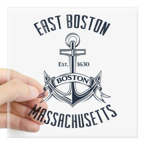 CafePress East Boston MA Square Sticker 3 X 3 Square Sticker 1448923227
