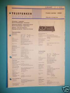 Tv, Video & Audio Ehrlichkeit Service Manual Telefunken Center 3022 Hifi-sys,original